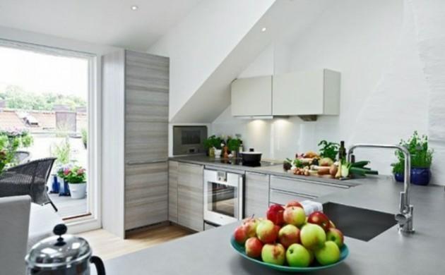 Dachschräge Küche Idee
