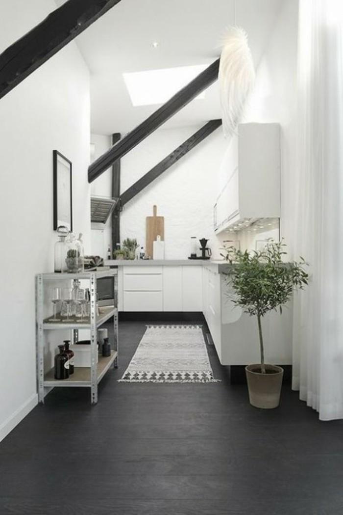 Die problematische dachgeschosswohnung und die perfekte for Rolltisch küche