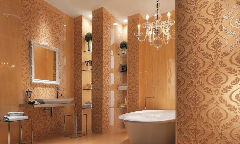 keramikfliesen wandfliesen ideen bilder moderne badezimmer