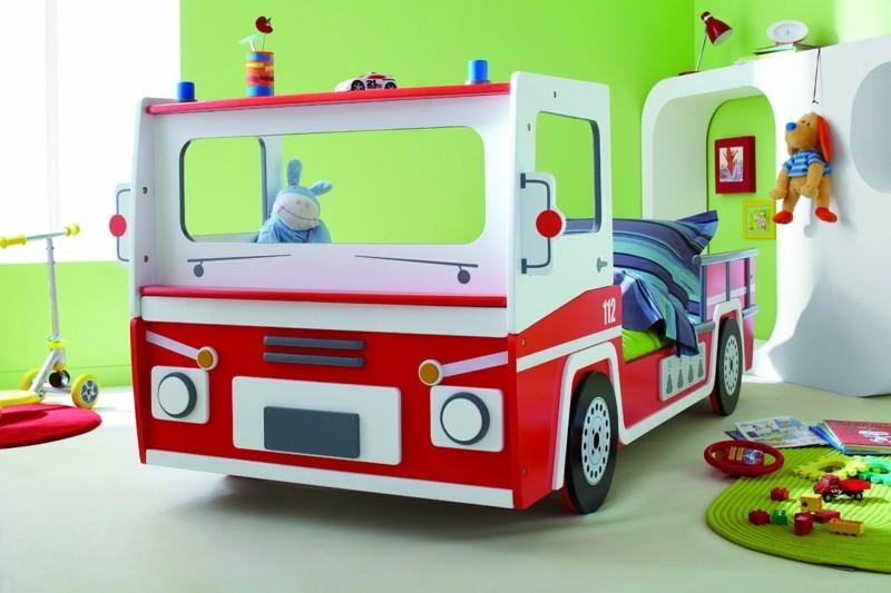 kinderbetten feuerwehrbetten kinderzimmer thematisch einrichten