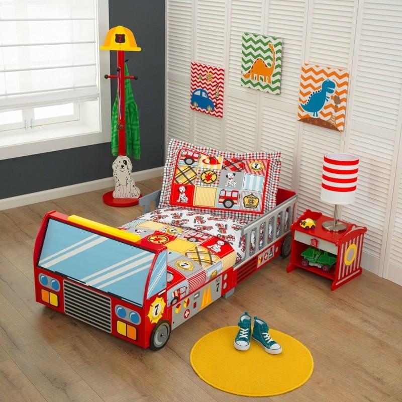 kinderbetten feuerwehrbetten lassen die kleinen jungen gro tr umen. Black Bedroom Furniture Sets. Home Design Ideas