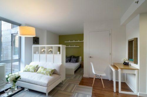 kleine-wohnung-einrichten-einzimmerwohnung-wohnideen-wohnzimmer-retro-stil