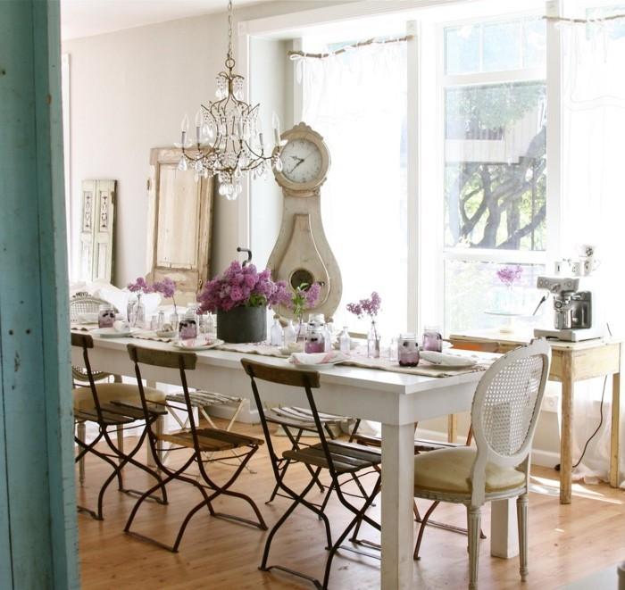einrichtungsideen deko esszimmer blumendeko französischer stil