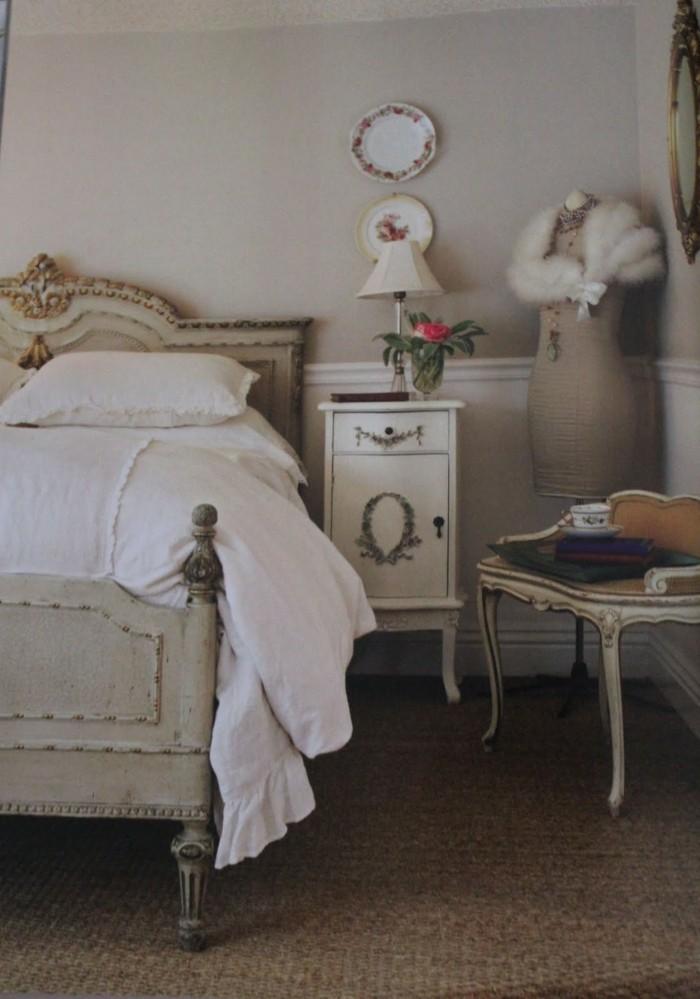 Der franz sische landhausstil 33 einrichtungsbeispiele - Schlafzimmer franzosischer stil ...