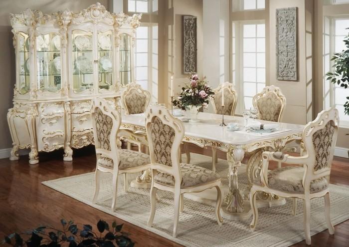 landhausstil esszimmer französischer stil beige