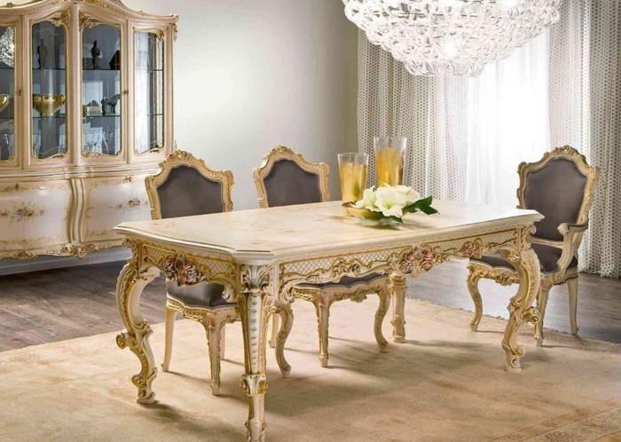 landhausstil französisch elegante möbel esszimmer