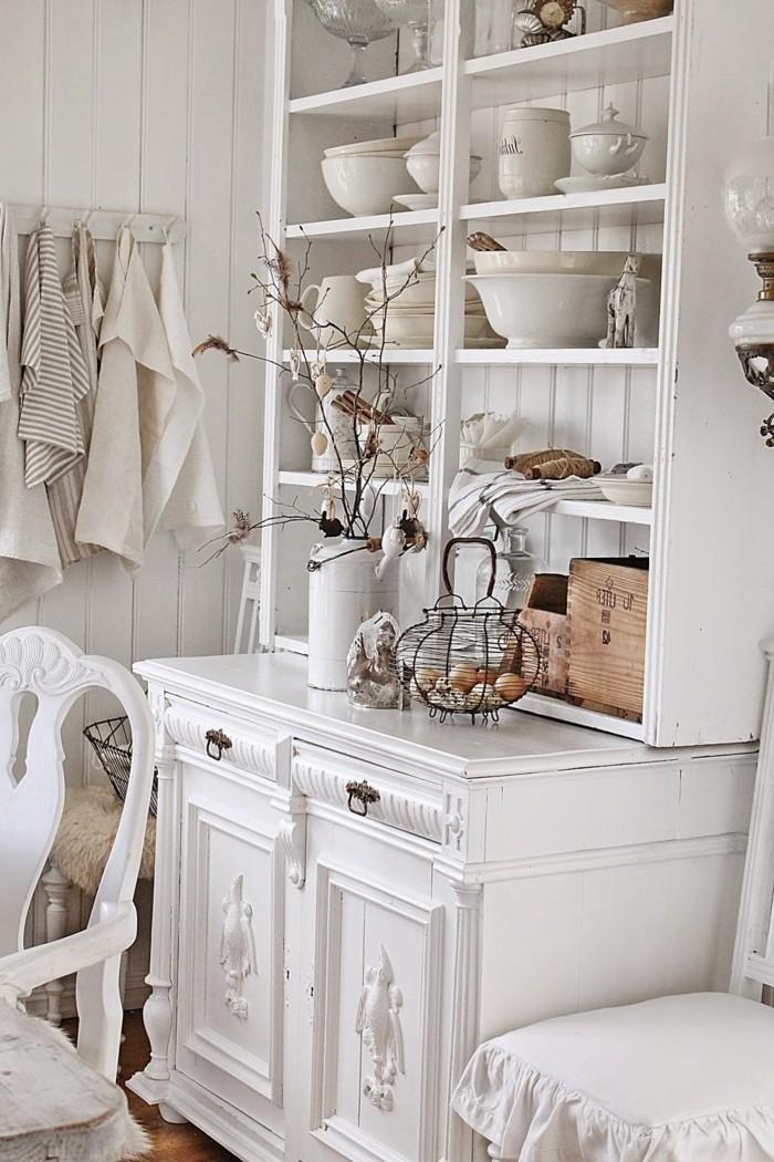 landhausstil weiße einrichtung französischer stil