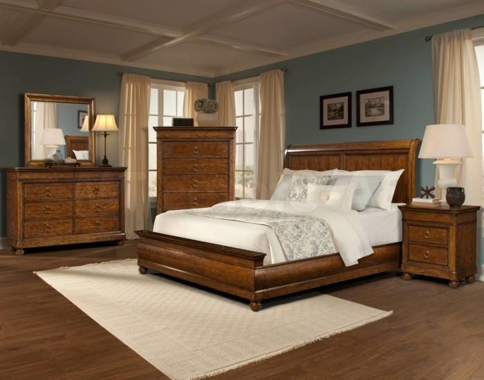 Massivholzbett bringt das schlafzimmerdesign auf ein h heres niveau - Lit king size 200x200 pas cher ...