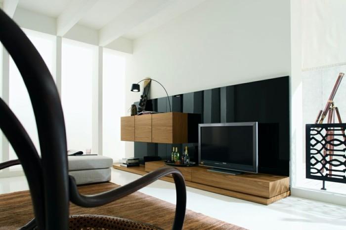 naürlich wohnen wohnideen wohnzimmer moderne wohnwand weiße wände