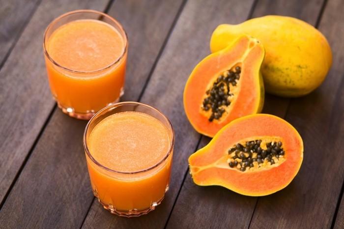 papaya lebe gesund fruhstucksideen gesund abnehemn gesundes obst direkt saft