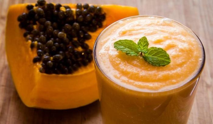 papaya lebe gesund fruhstucksideen gesund abnehemn gesundes obst smoothie