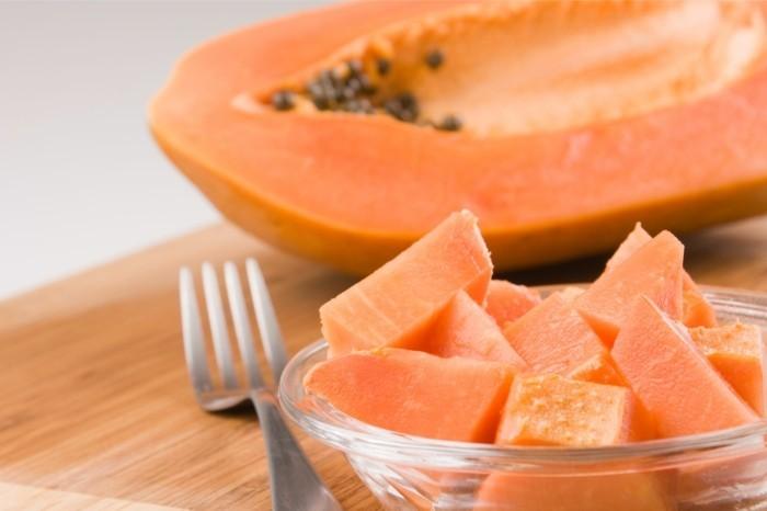 papaya lebe gesund fruhstucksideen gesund abnehemn gesundes obst stuckchen