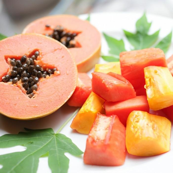 papaya lebe gesund fruhstucksideen gesund abnehemn gesundes obst5