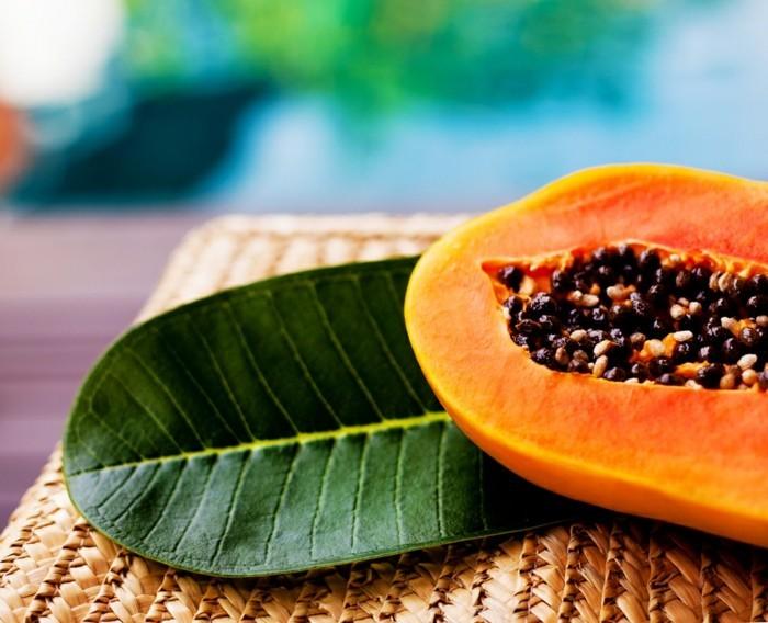papaya lebe gesund fruhstucksideen gesund abnehemn gesundes obst9
