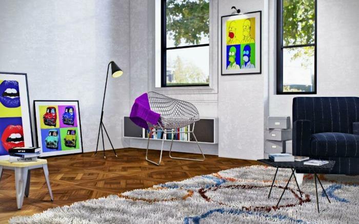 pop art merkmale einrichtungsbeispiele wohnideen deko ideen nwohnzimmer klassik frech