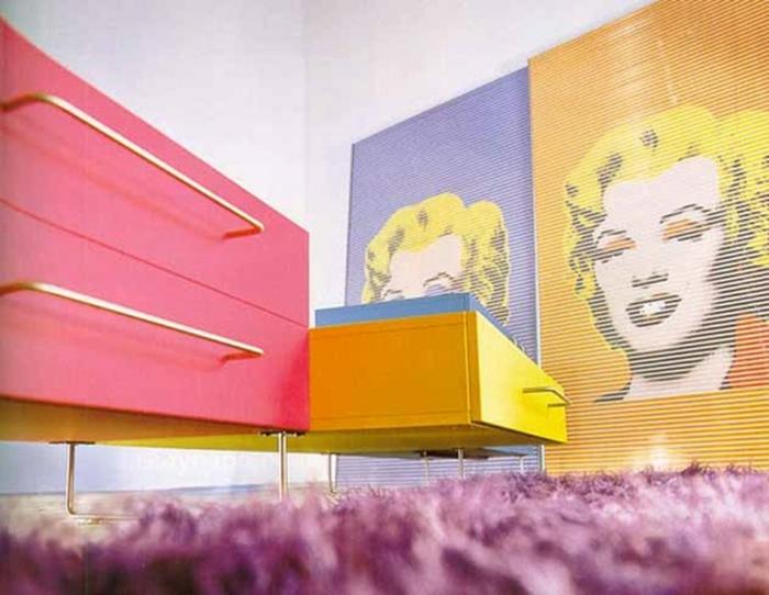 20 einrichtungsbeispiele und pop art merkmale. Black Bedroom Furniture Sets. Home Design Ideas