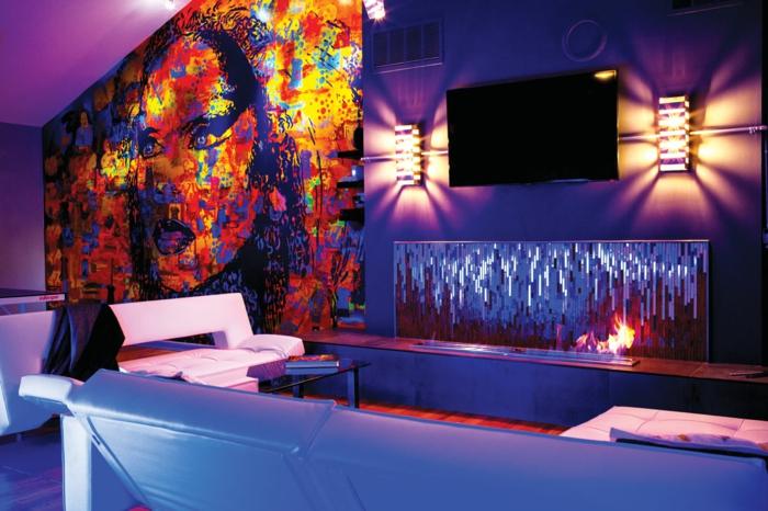 pop art merkmale einrichtungsbeispiele wohnideen deko ideen wohnzimmer pingpong