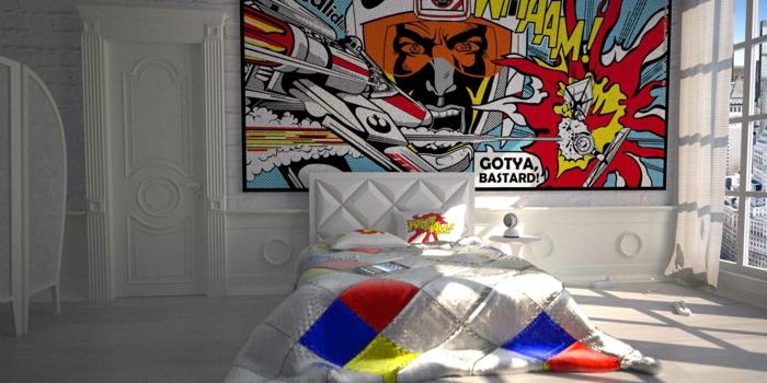 pop art merkmale einrichtungsbeispiele wohnideen deko ideen wohnzimmer schlafzimmer