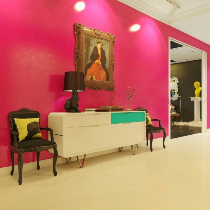 pop art merkmale einrichtungsbeispiele wohnideen deko ideen wohnzimmer wandgestaltung