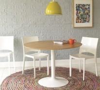 Teppich rund – 40 Innendesigns mit rundem Teppich, die sehenswert sind