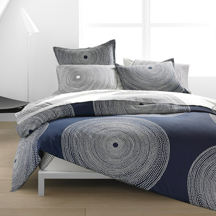 schlafzimmer gestalten bettwäsche auswählen weiße wände