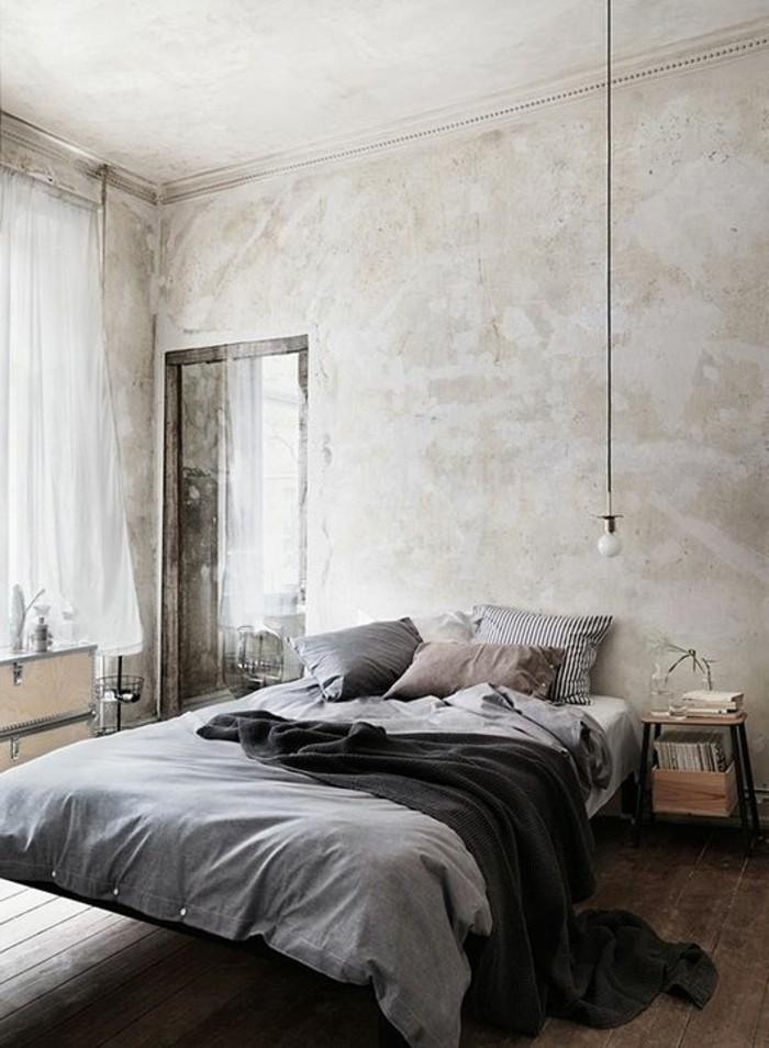 schlafzimmer gestalten holzboden hängelampe schöne wandgestaltung