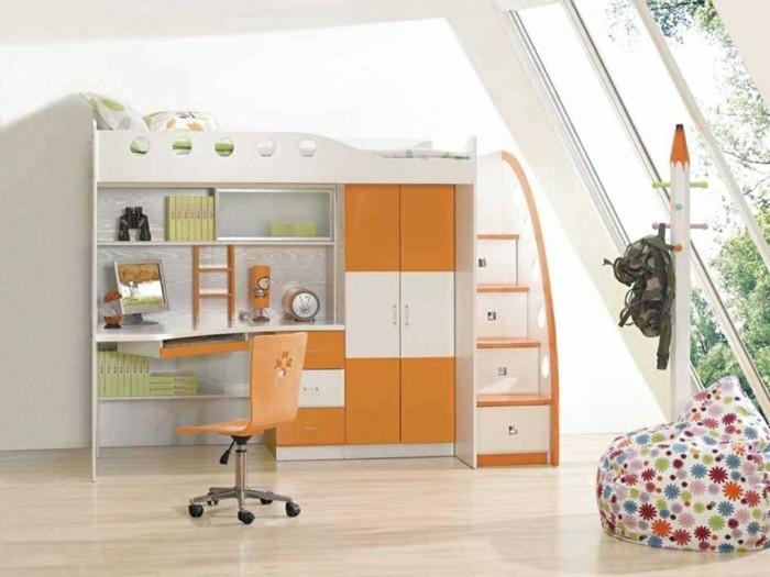 sitzsack kinder farbiges innendesign funktionale möbel