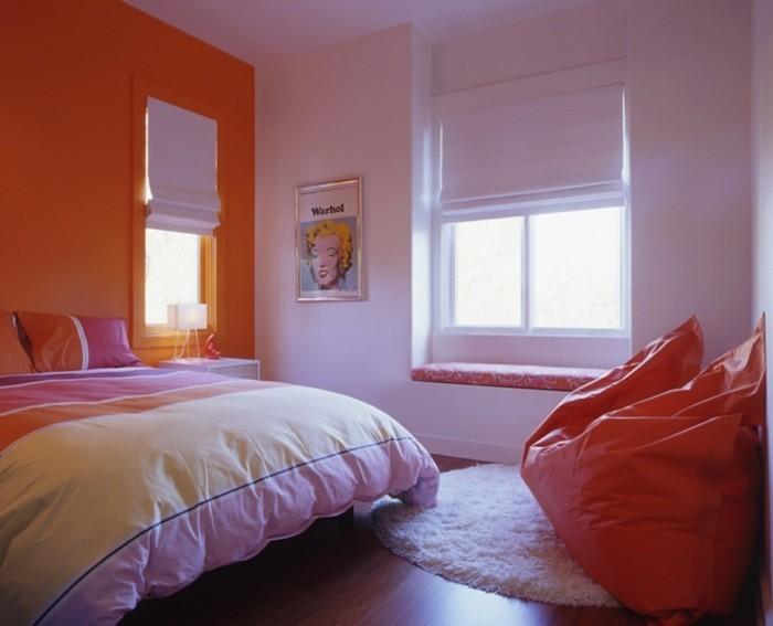 sitzsack kinder jungenzimmer einrichten runder teppich