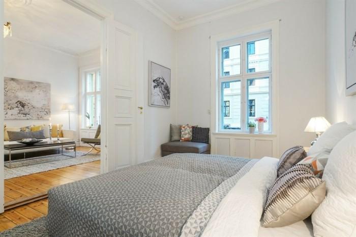 Skandinavisch Einrichten - 60 Inneneinrichtung Ideen Für ... Schlafzimmer Skandinavisch Gestalten