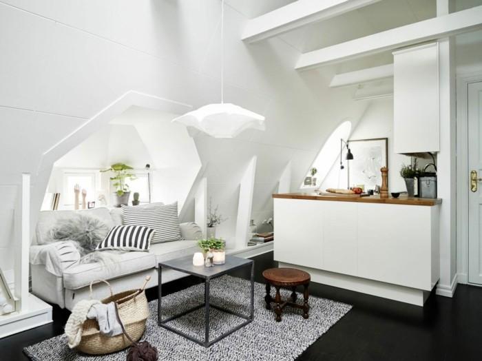 Skandinavisch einrichten 60 inneneinrichtung ideen f r - Dachschrage dekorieren ...