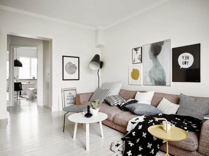 wohnzimmer einrichten ideen skandinavisch wohnen wohnzimmer einrichten beistelltische wanddeko