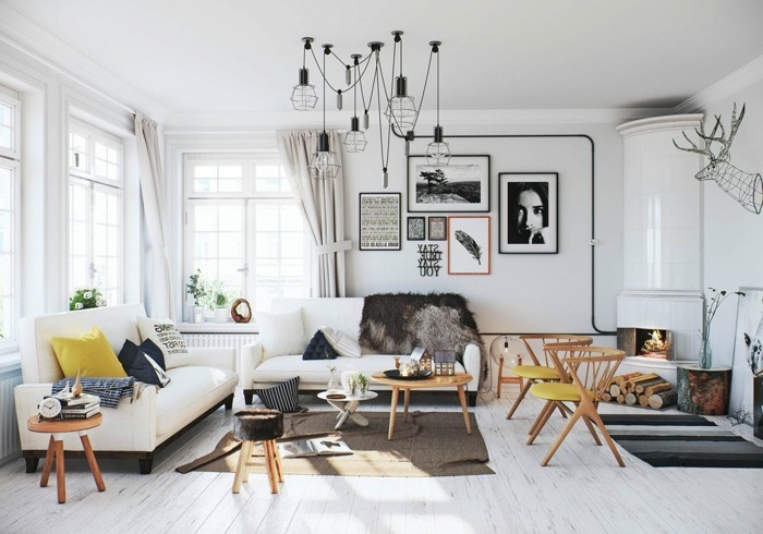 Design Wohnzimmer Skandinavisch Gestalten Inspirierende Bilder