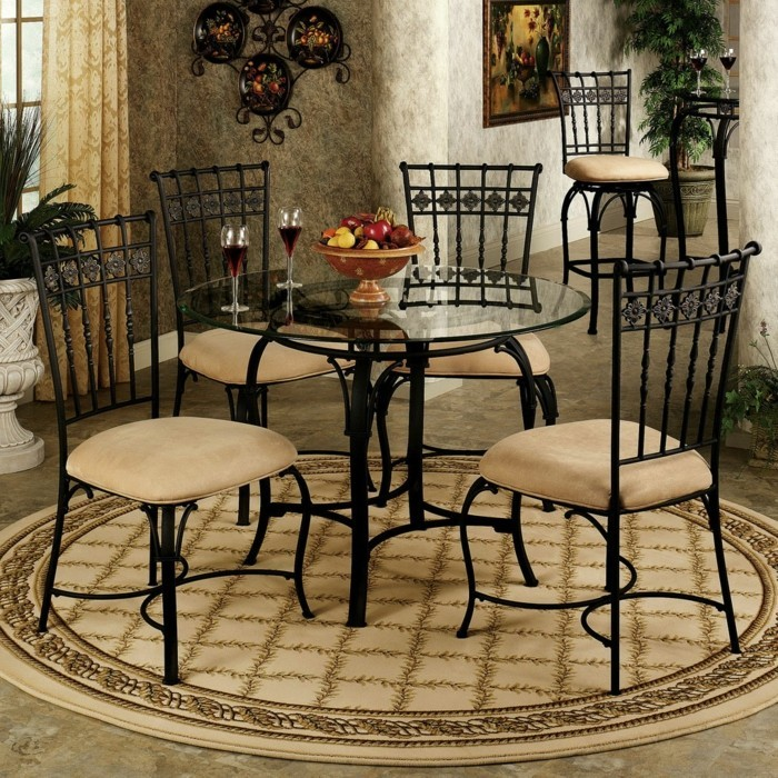 teppich rund 40 innendesigns mit rundem teppich die. Black Bedroom Furniture Sets. Home Design Ideas