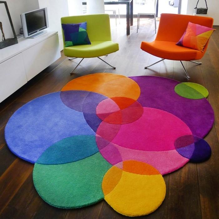 Teppich rund  40 Innendesigns mit rundem Teppich, die