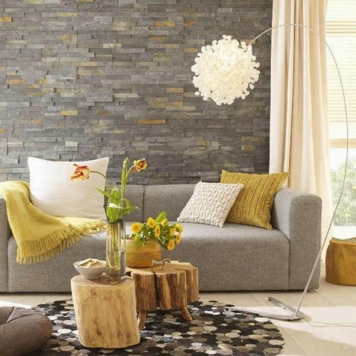 teppich rund wohnideen wohnzimmer dekoideen textilien beistelltische rustikal