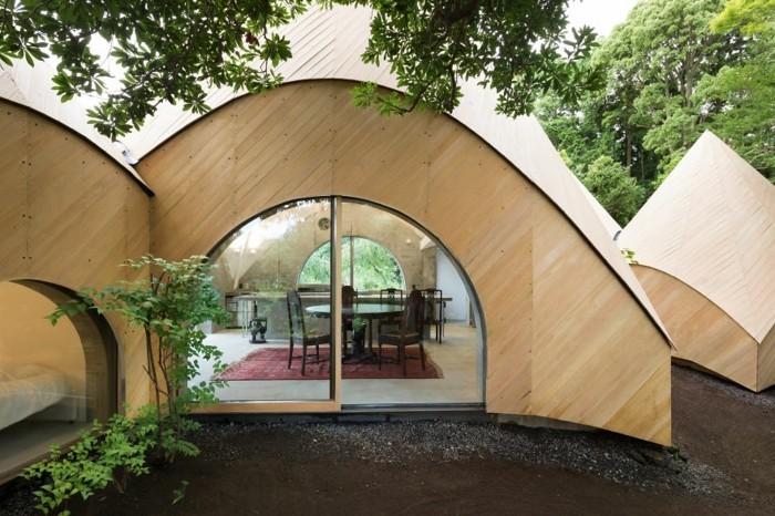 tipi azelt okohaus bauen holz beton japanische hauser
