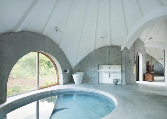 tipi zelt badezimmer inneneinrichtung pool