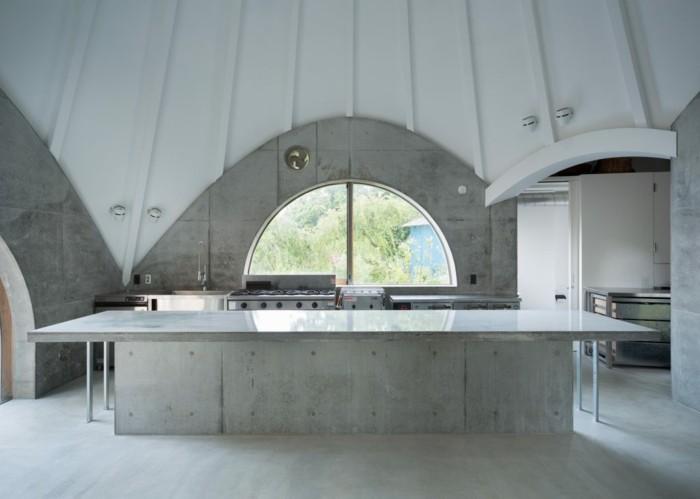tipi zelt kucheneinrichtung arbeitsflache beton
