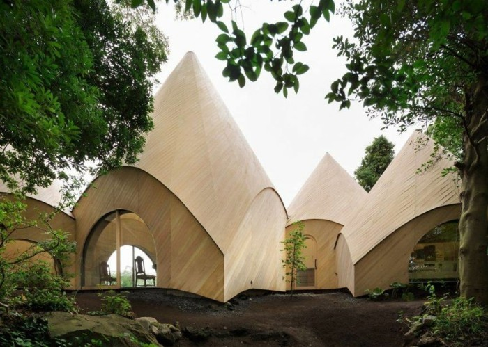 tipi zelt moderne hauser beton holz okologisch bauen