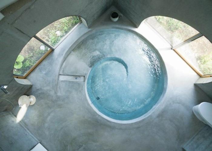 tipi zelt poolbecken badezimmer organische formen