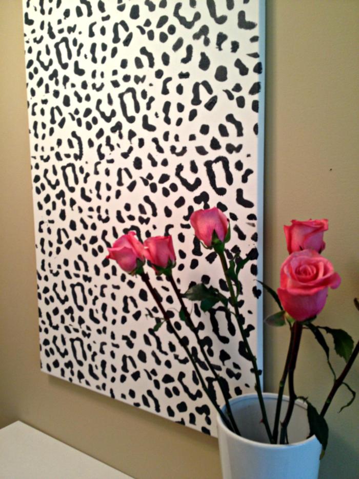 wandbilder dekoiden leinwandbild leopardenmuster