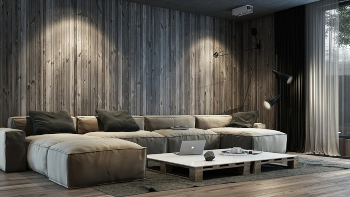 70 ideen für wandgestaltung - beispiele, wie sie den raum aufwerten, Wohnzimmer design