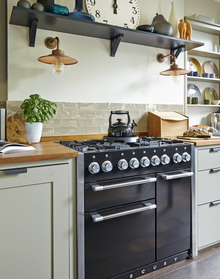 wandgestaltung ideen küche krakelee technik wandfliesen offene wandregale