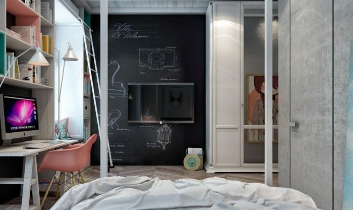 wandgestaltung ideen wandtafel schlafbereich gestalten