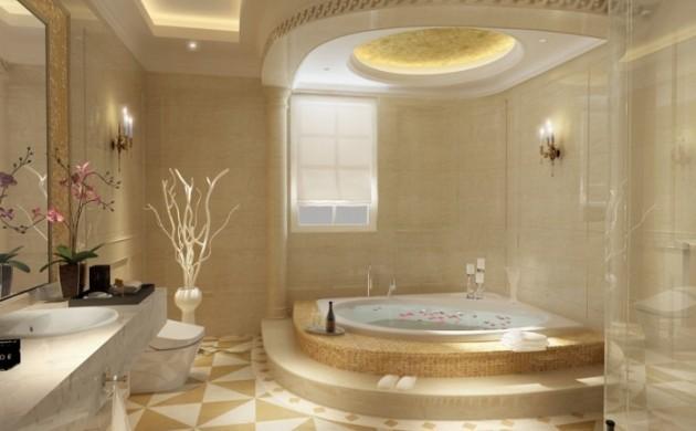 wohneinrichtung-ideen-badezimmer-gestalten-romischer-stil