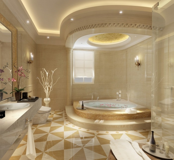 wohneinrichtung ideen badezimmer gestalten römischer stil