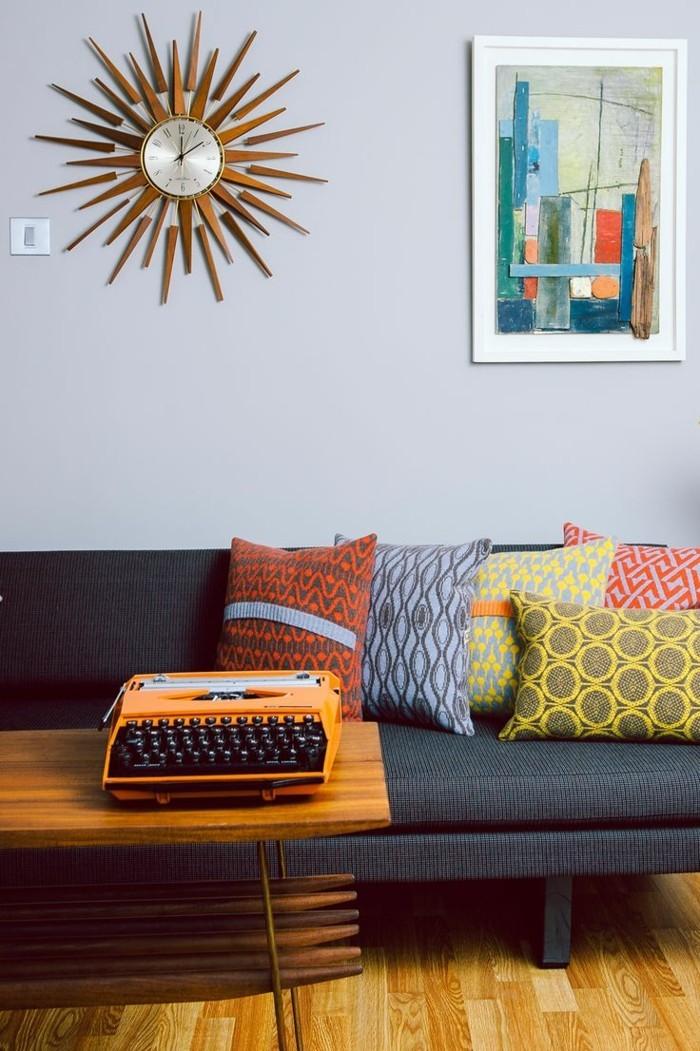 wohneinrichtung ideen wohnzimmer eirnichten ideen retro dekokissen