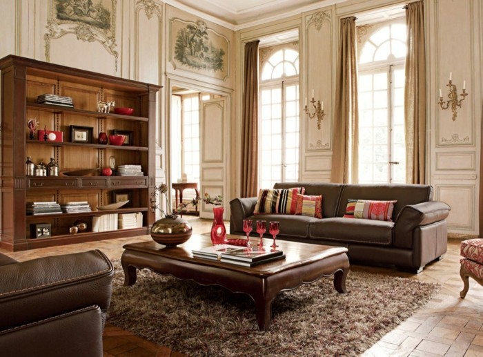 wohneinrichtung ideen wohnzimmer römischer stil wandgestaltung