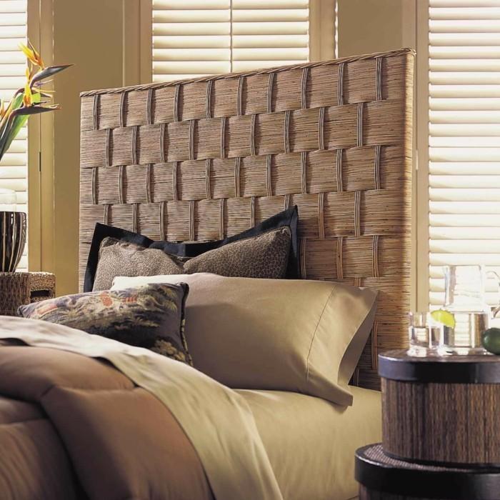Gestaltung schlafzimmer 20 beispiele wie sie ein exotisches schlafzimmer einrichten - Rattan schlafzimmer ...