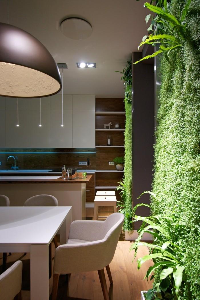 wohnung einrichten ideen küche vertikaler garten
